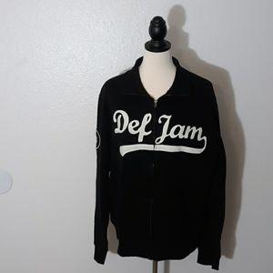 Def Jam full zip jacket sz L